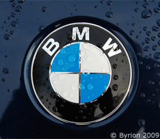 A BMW badge