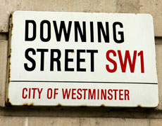 UK politics, downing street