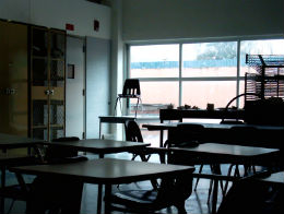 Public sector strikes - an empty classroom