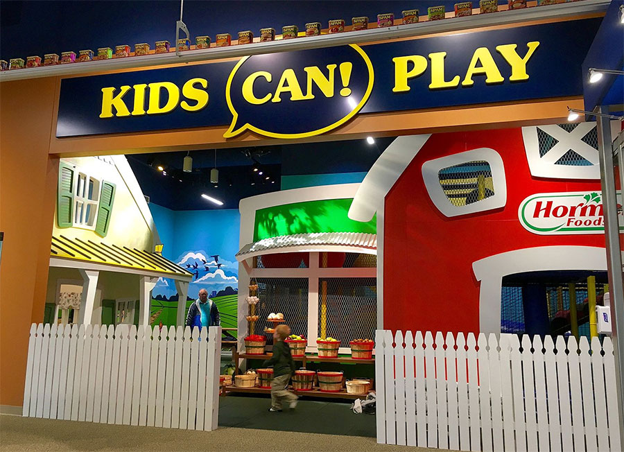 Kids play area in a restaurant.