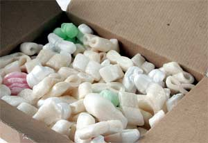 A box full of packing material, packaging