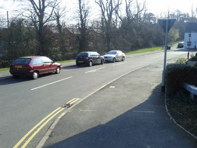 Street parking, banned by residents of St Peters Way, Stratford Upon Avon