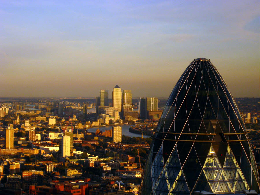 Byuing a flat in London, view of the Gherkin