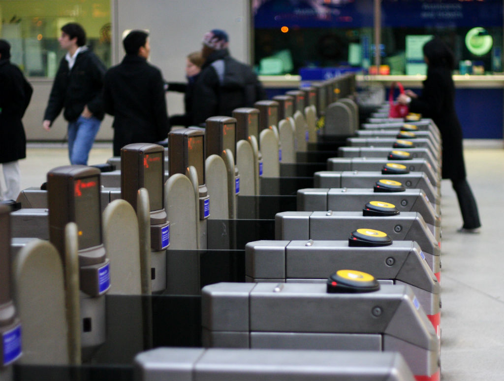 Train ticket barriers - commuters who dither and don't know where they are going