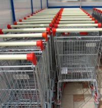 Shopping trolly park